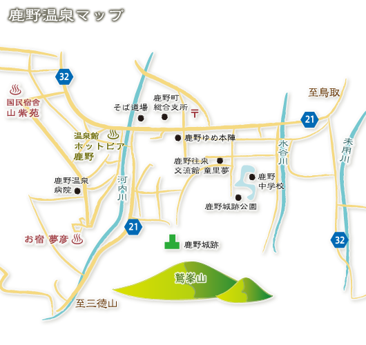 鹿野温泉MAP